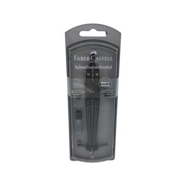 Grip Schnellverstellzirkel, schwarz – Faber-Castell
