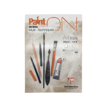 40P Block Paint On Multitechnik für Trocken- und Nasstechniken geleimt DIN A4 21×29,7cm