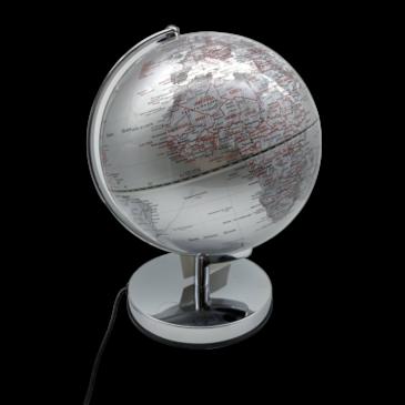 Gentlemen's Hardware Globe Light   Silver   10 Inch