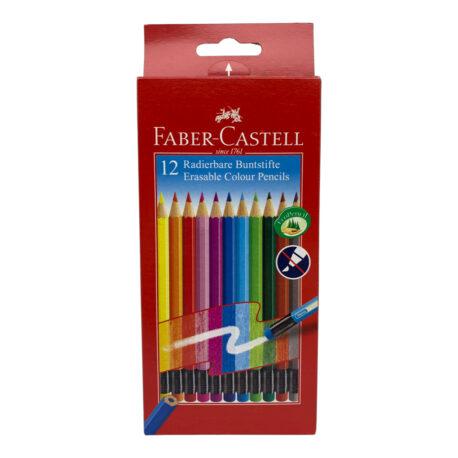 Faber-Castell-12er-Radierbuntstifte